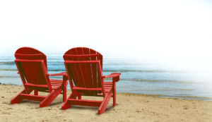 chairs by the beach