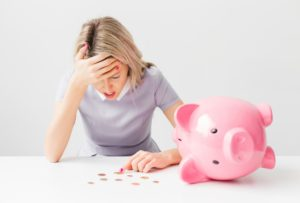 woman problem with saving